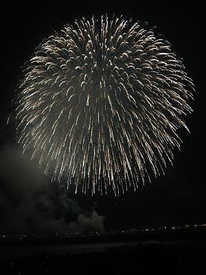 長岡花火の三尺玉の写真