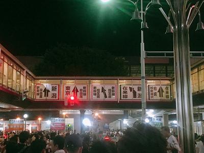 長岡駅前行き先表示看板の写真