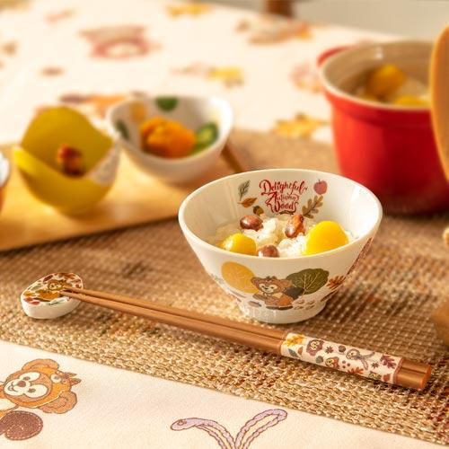 秋のぼうけん茶碗セットの写真