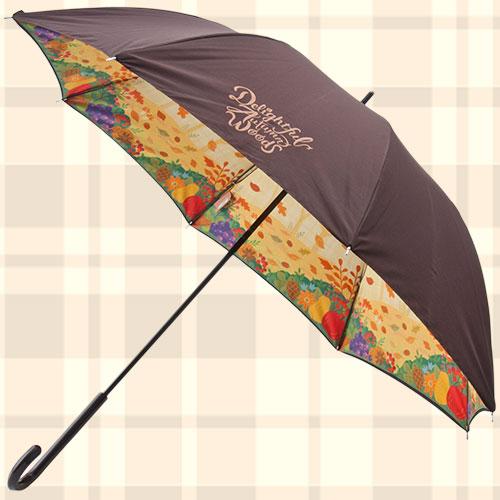 秋のぼうけん長傘の写真