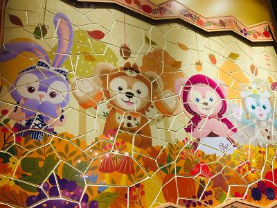 ガッレリーア・ディズニーにある壁画の写真