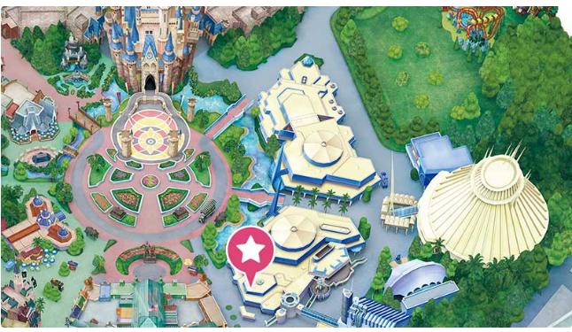 ディズニーランドプラズマ・レイズ・ダイナーの地図