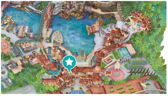 ガッレリーア・ディズニーの地図