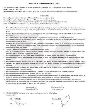 N/A契約合意書英語版の写真