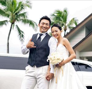 鈴木誠也&畠山愛理結婚式の写真