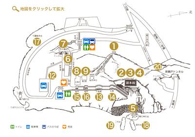 鵜戸神宮境内の地図の写真