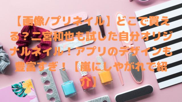 【画像/プリネイル】どこで買える?二宮和也も試した自分オリジナルネイル!アプリのデザインも豊富すぎ!【嵐にしやがれで紹介】