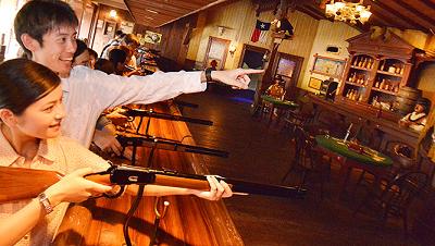 ディズニーランドウエスタンランドシューティングギャラリーの写真