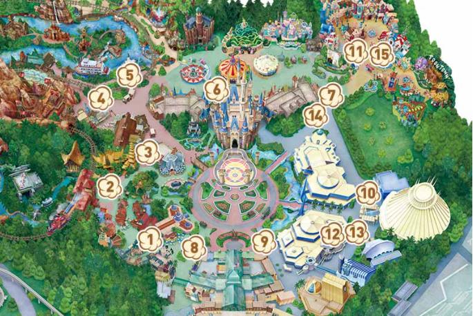 ディズニーランドポップコーンワゴンマップの画像
