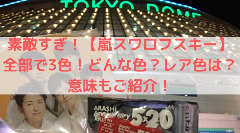嵐5x20ツアー東京ドームの斜視jん