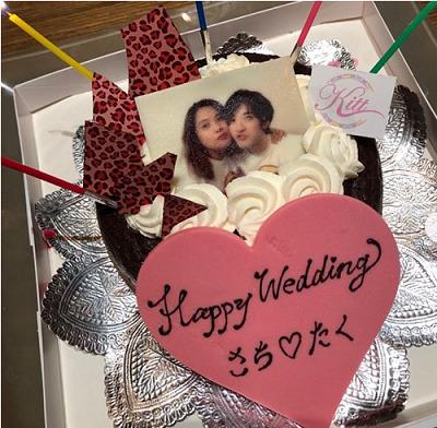 滝沢カレンの親友サチコと夫の画像